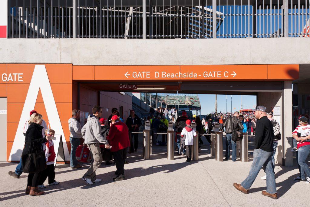 Western Grandstand - WIN Stadium Signage