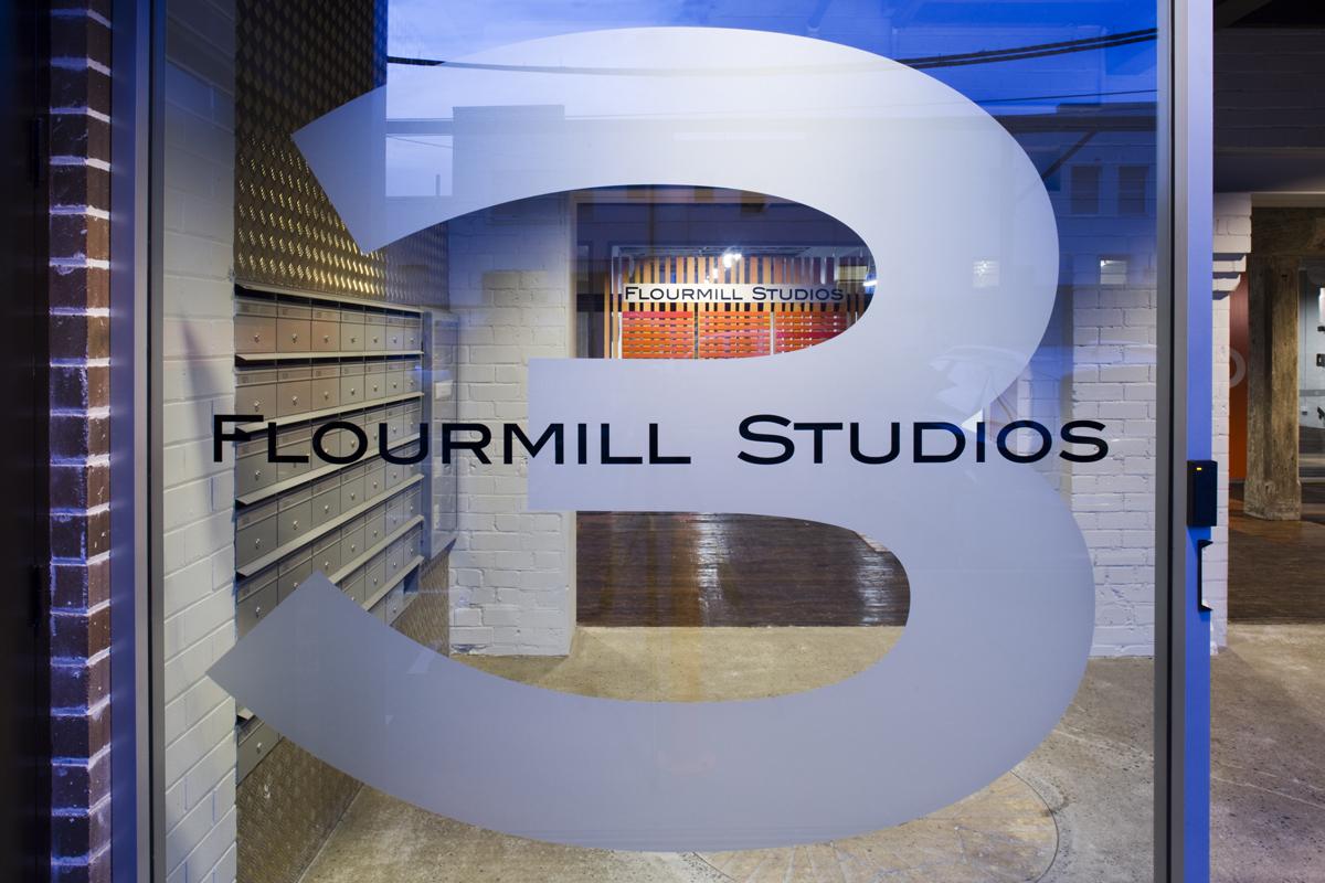 Flourmill Studios Signage