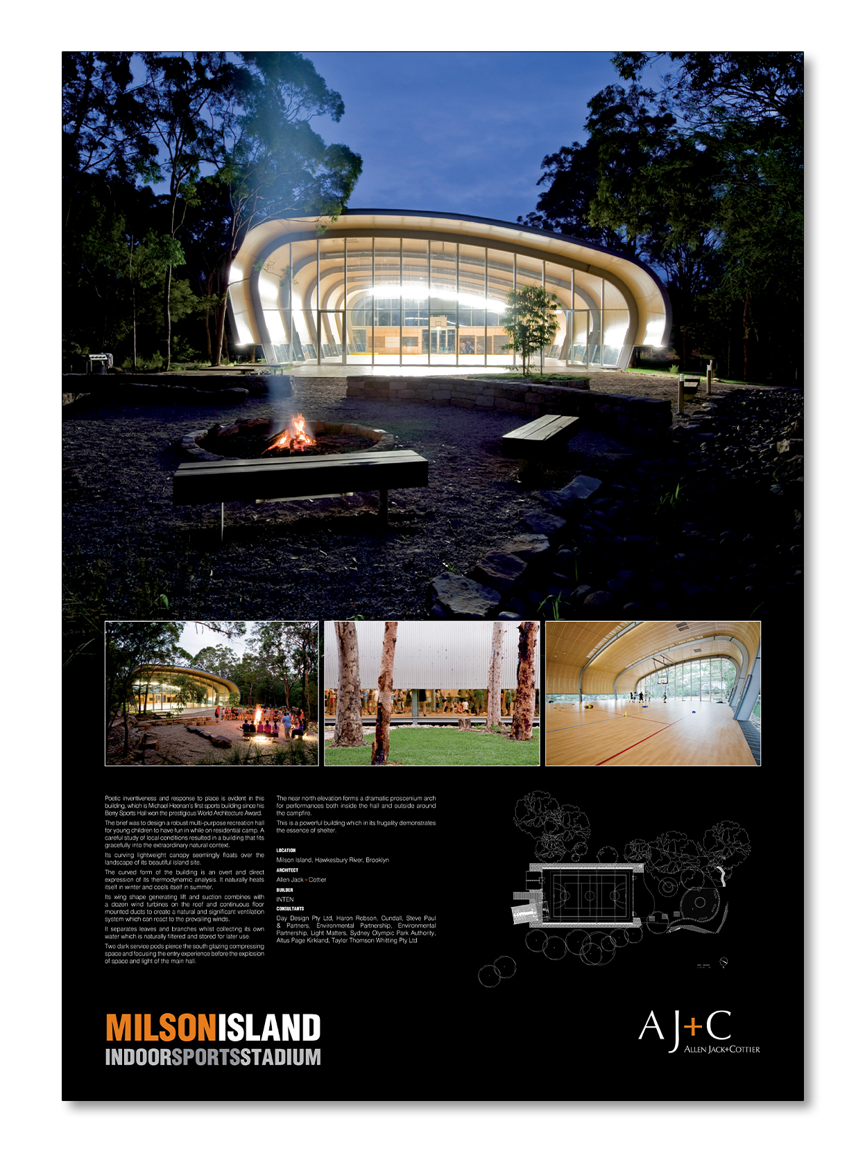 Australian Institute of Architects Awards Poster - Milson Island